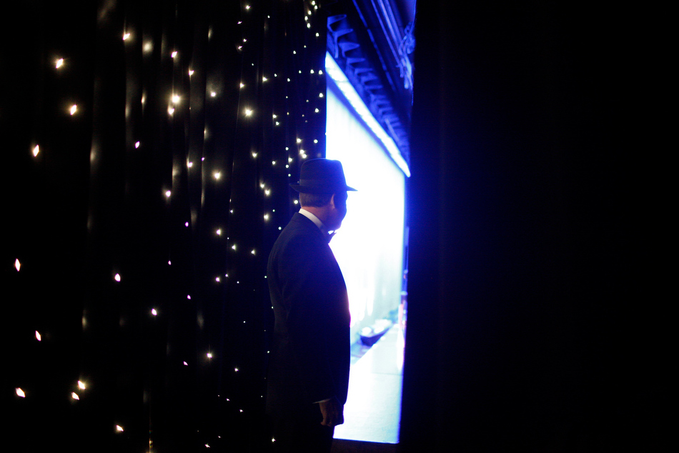 Matt waits to take the stage at the Golden Nugget in Las Vegas, 2-22-2012