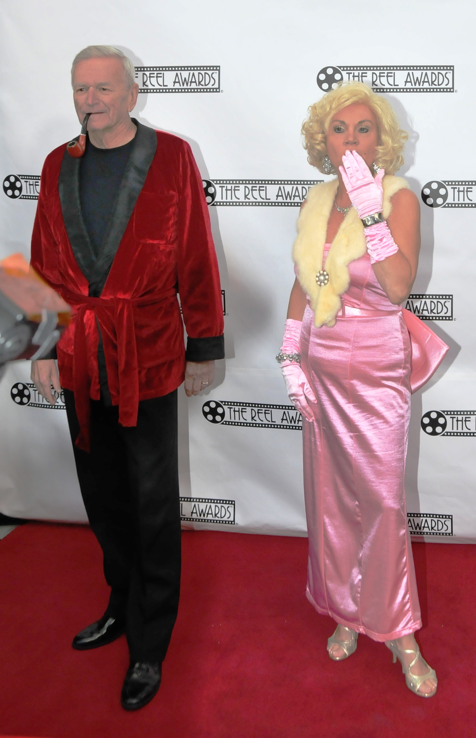 Patti as Marilyn with Hugh Hefner in Vegas