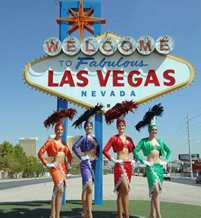 Welcome to Las Vegas Sign, with 4 dancers