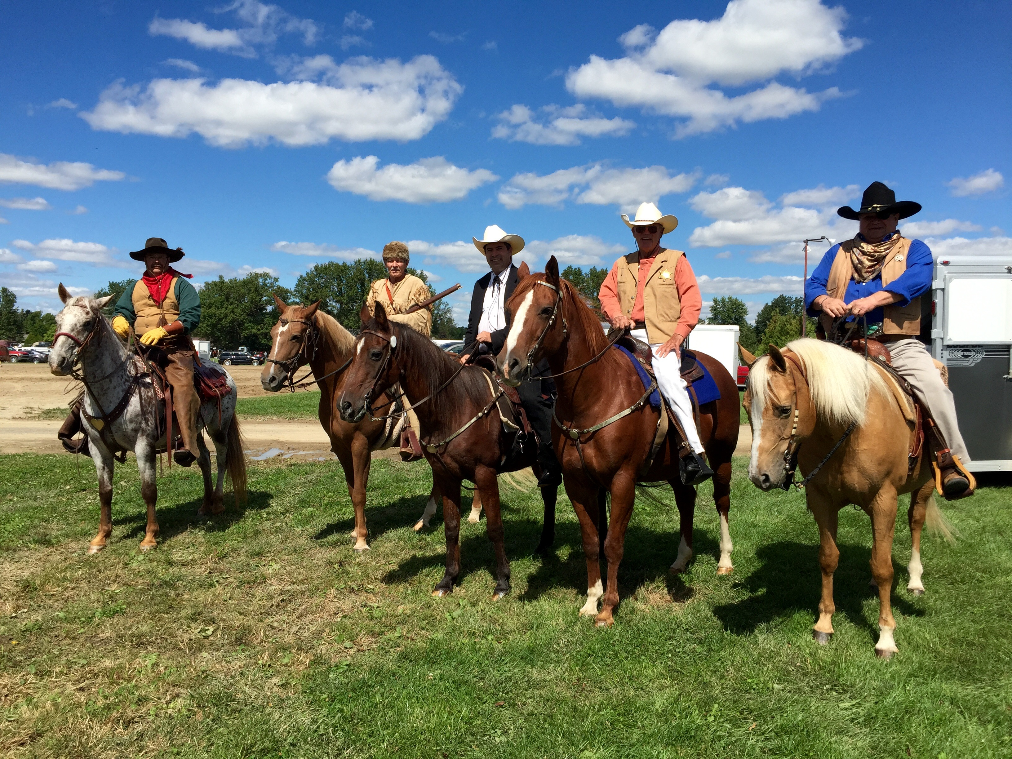 Legends Posse-Pecos Bill, Davy Crockett, Lone Ranger, Matt Dillon and Rooster