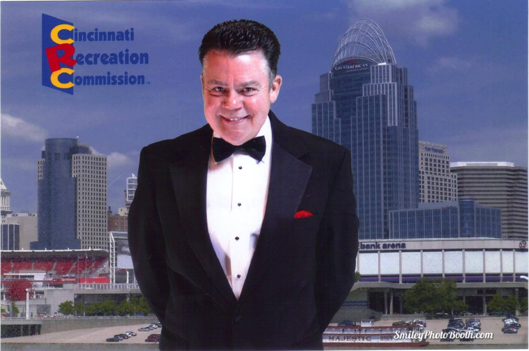 Matt with Cincinnati Skyline, 10-15-2014